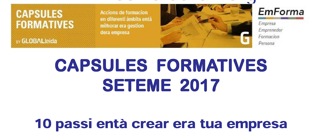 Poster Capsules Formatives Seteme 2017